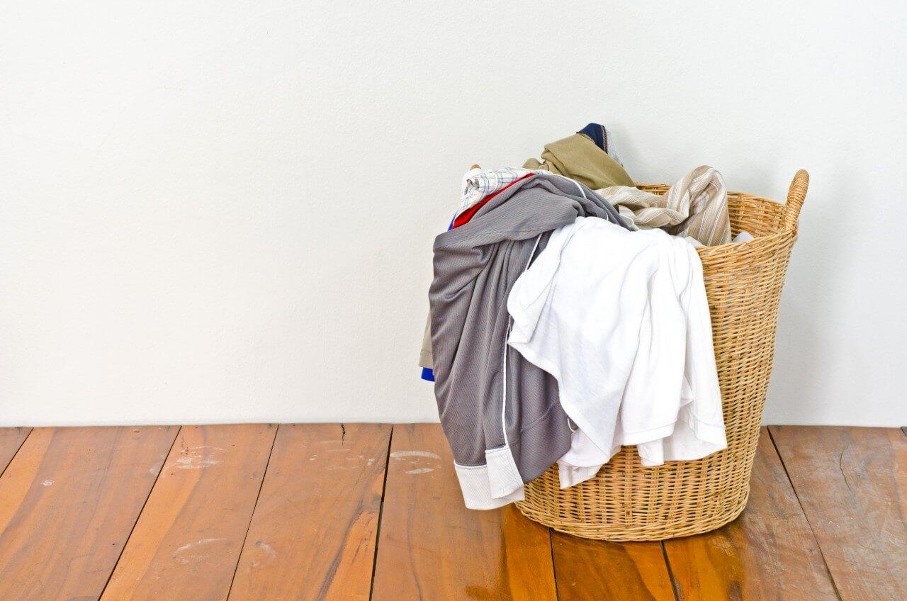 laundry basket with laundry