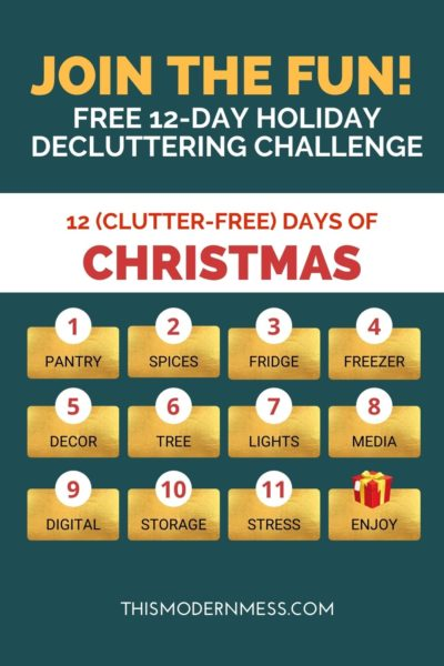12 Day Christmas Decluttering Challenge