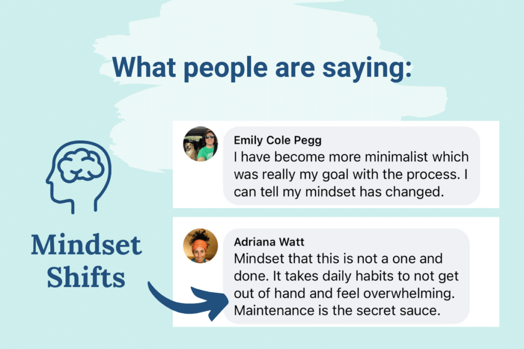 Mindset shifts participants have experienced.