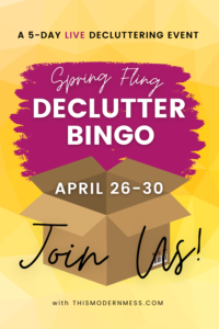 Spring Fling Declutter Bingo 2021